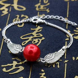 FREE! Pearl Angel Wings Charm Bracelet - The Creative Booth