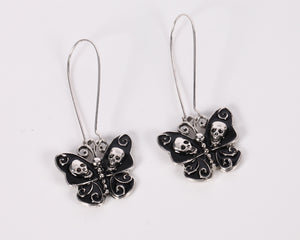 Butterfly Skull Dangle Earrings - 30% Off - The Creative Booth