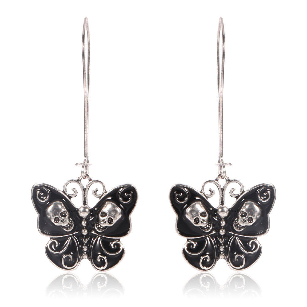 Butterfly Skull Dangle Earrings - The Creative Booth