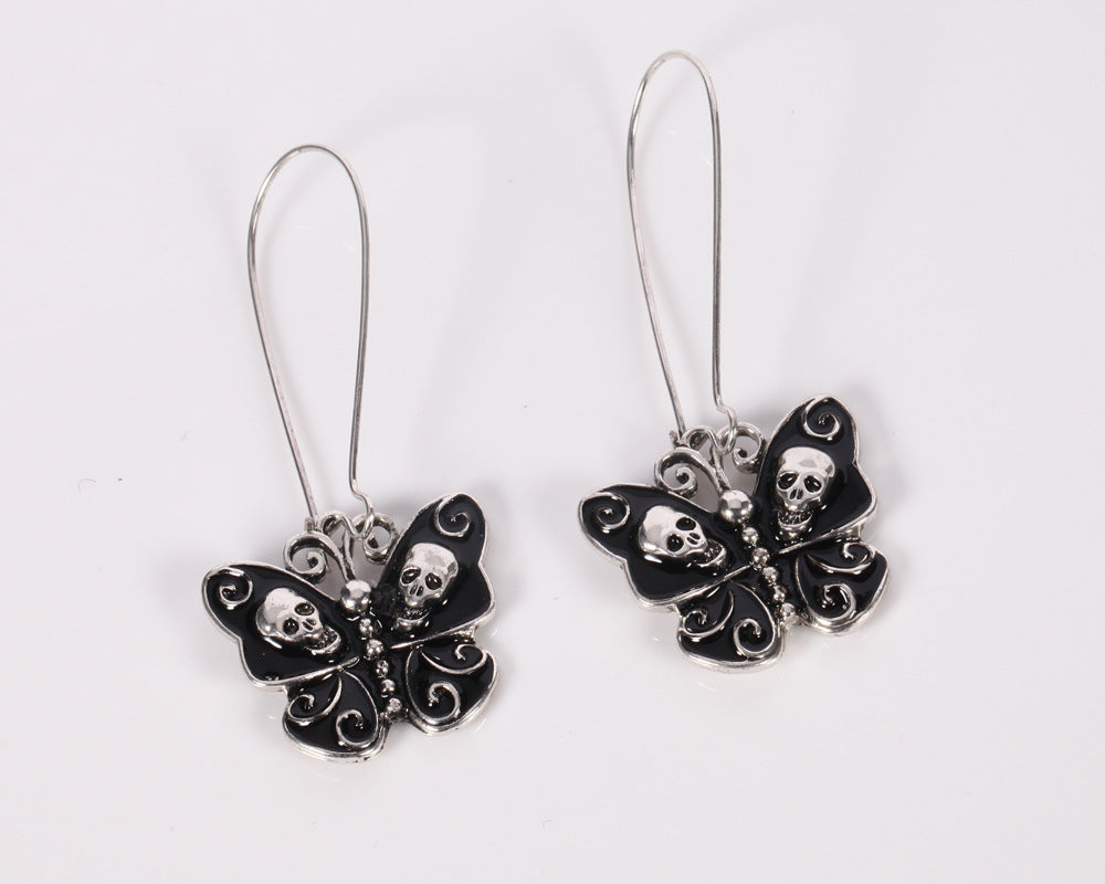 Butterfly Skull Dangle Earrings - 65% Off - The Creative Booth