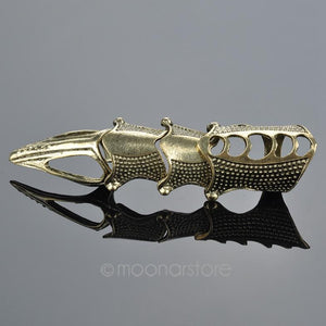 Devil Armor Knuckle Full Finger Ring - 30% Off! - The Creative Booth