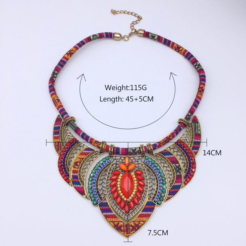 Multi-colored Bohemian Ethnic Necklace - 30% Off! - The Creative Booth
