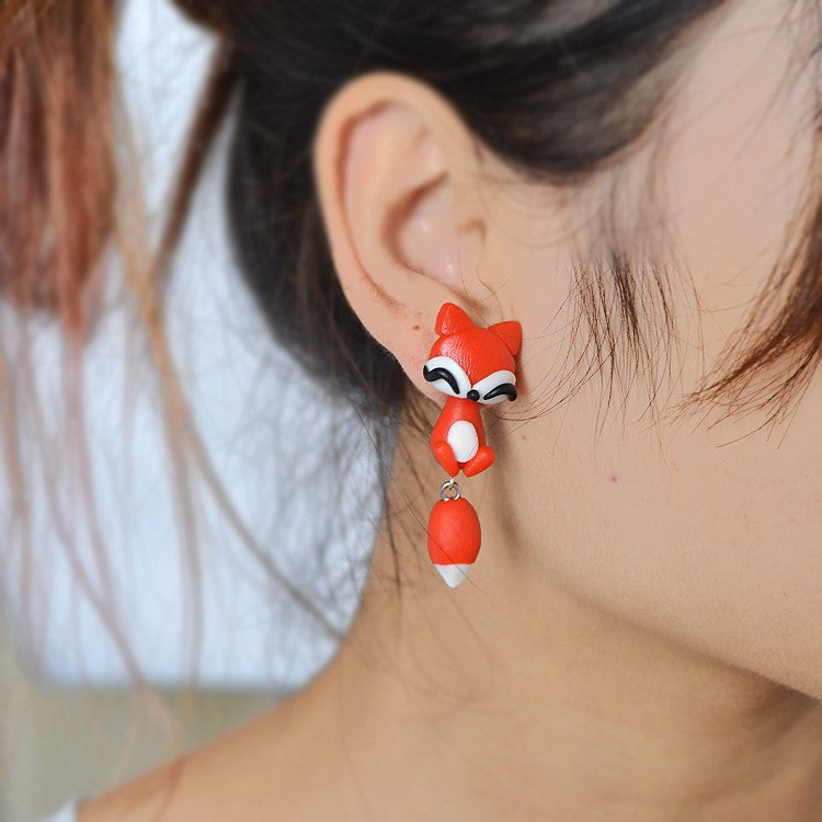 Clinging Fox Earrings - 30% Off