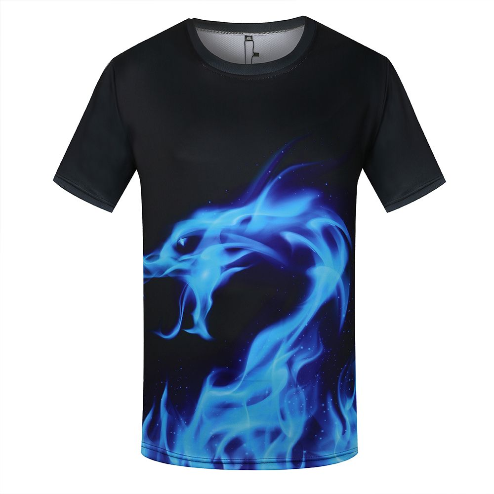Bluefire Dragon T-Shirt - The Creative Booth