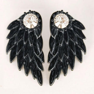 FREE! Angel Wings Rhinestone Stud Earrings - The Creative Booth