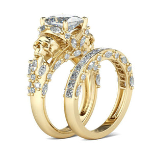 Luxurious Golden Skull Double Ring Set - 65% Off! - The Creative Booth