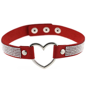 Shiny Heart Choker - The Creative Booth