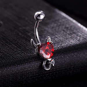 Devil Heart Belly Button Ring - 35% Off! - The Creative Booth