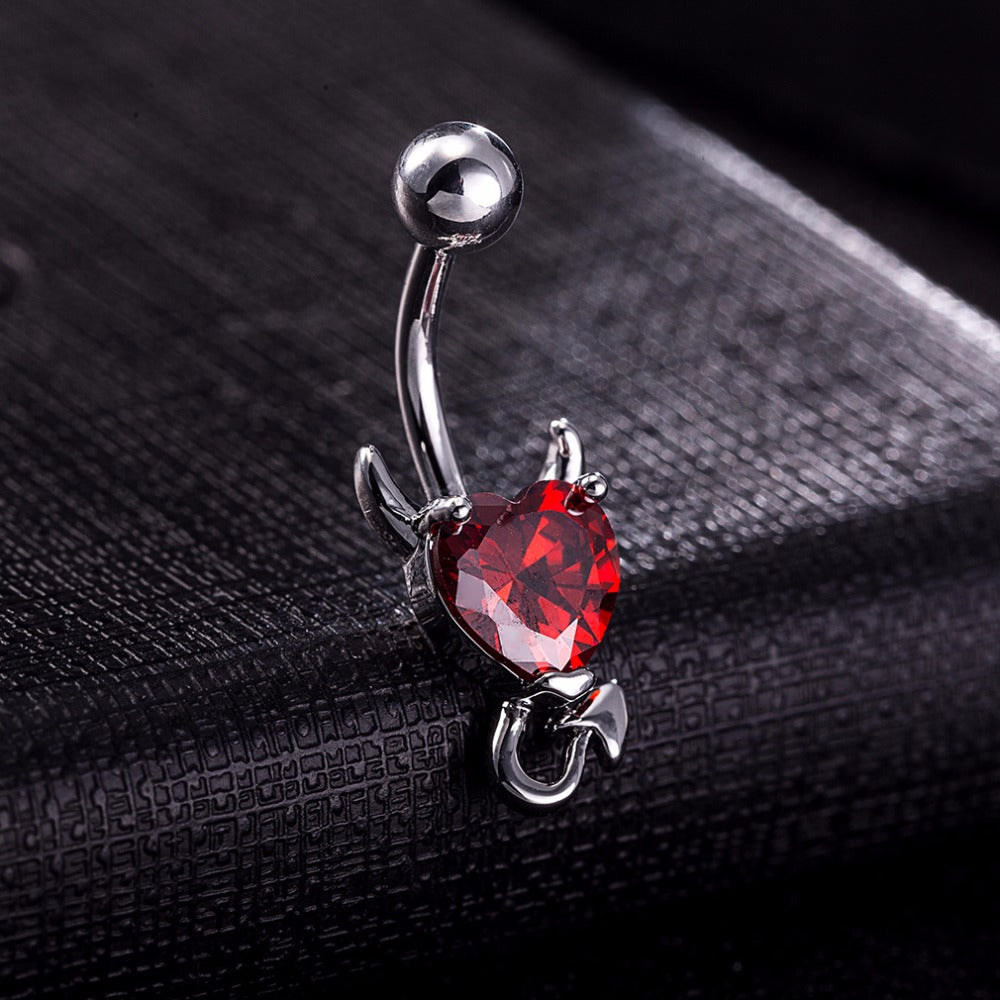 Devil Heart Belly Button Ring - 65% Off! - The Creative Booth