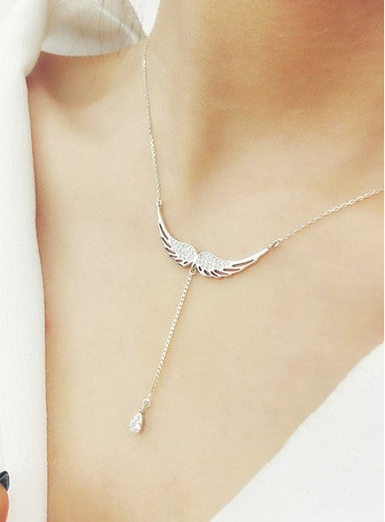 FREE! Zircon Angel Wing Necklace - The Creative Booth