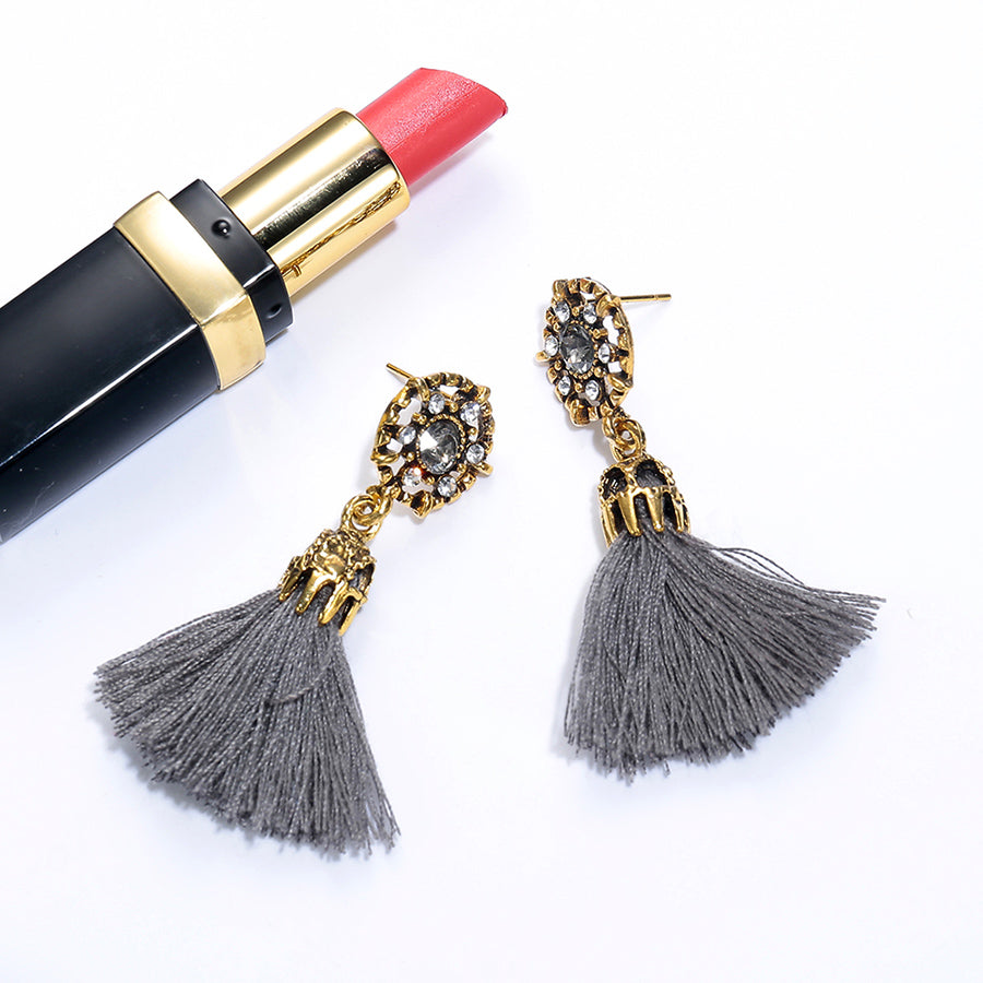 Fringed Drop Crystal Tassel Earrings - 65% Off! - The Creative Booth