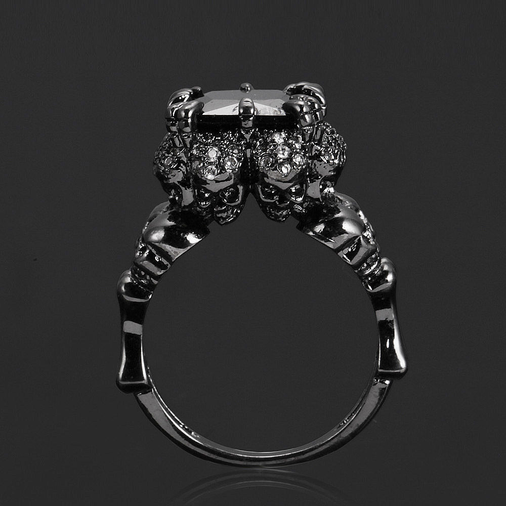 Zircon Black Skull Ring - 65% Off!