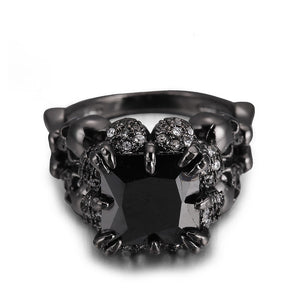 Zircon Black Skull Ring - 30% Off!