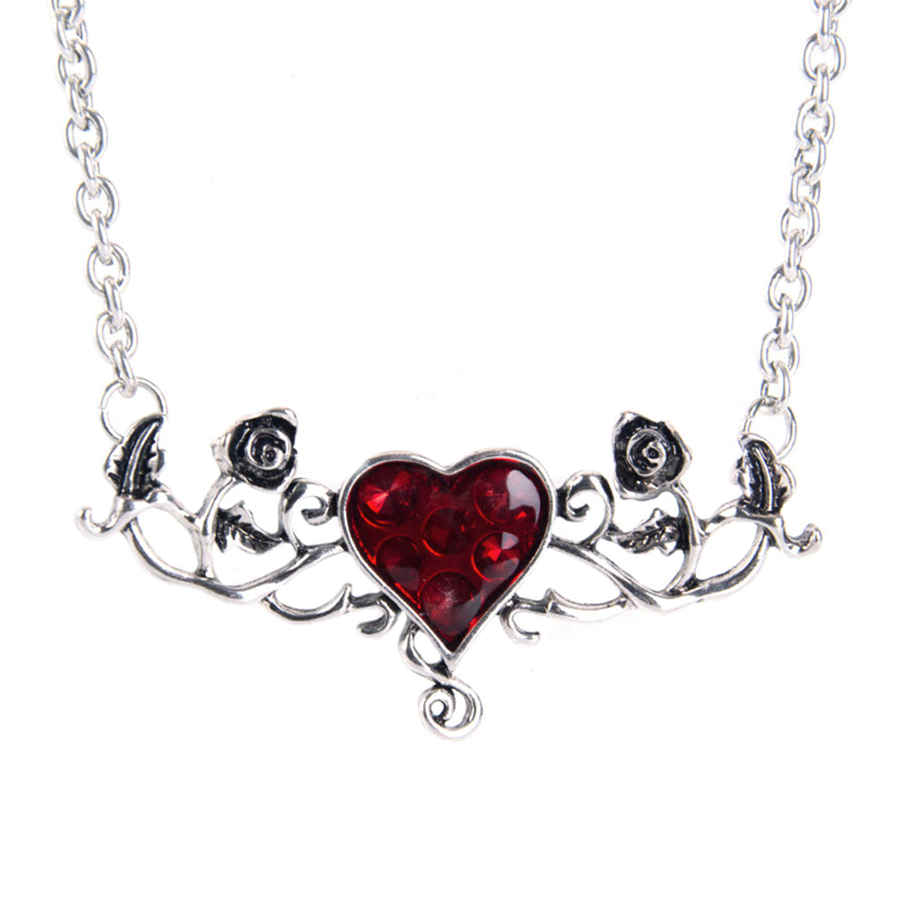 Bloody Heart Rose Necklace - The Creative Booth