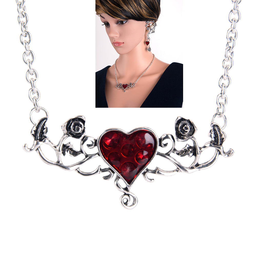 Bloody Heart Rose Necklace - Special Offer - The Creative Booth