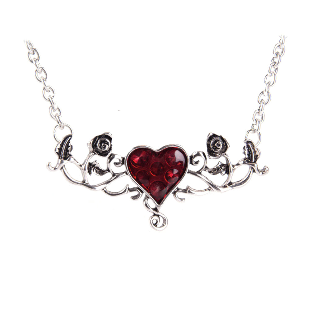 FREE! Bloody Heart Rose Necklace - The Creative Booth