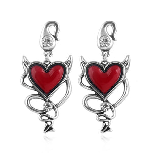 Red Heart Gothic Earrings - 30% OFF + FREE SHIPPING