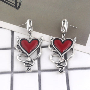 FREE! Red Heart Gothic Earrings