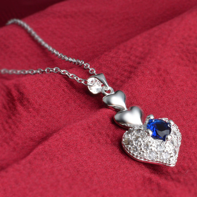 FREE! Blue Devil Heart Necklace - The Creative Booth