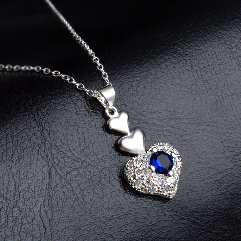 Blue Devil Heart Necklace - The Creative Booth