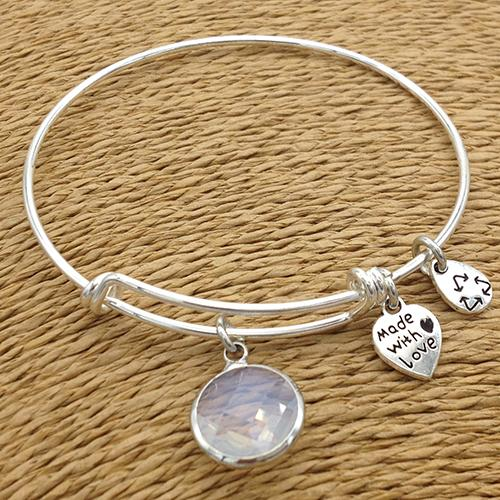 Birthstone Bangle Bracelet - Special Offer 55% Off! - The Creative Booth