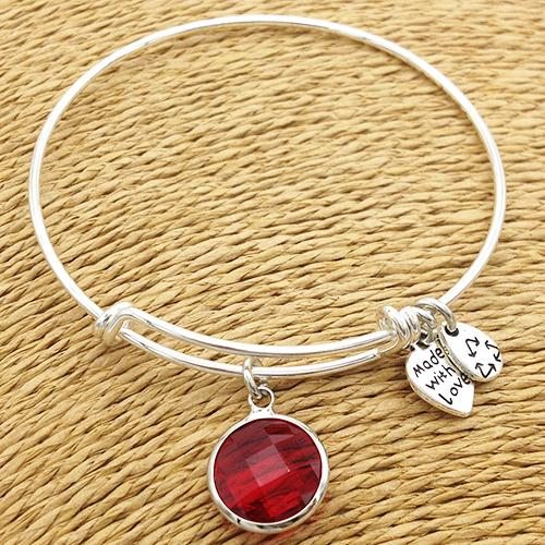 Birthstone Bangle Bracelet - The Creative Booth