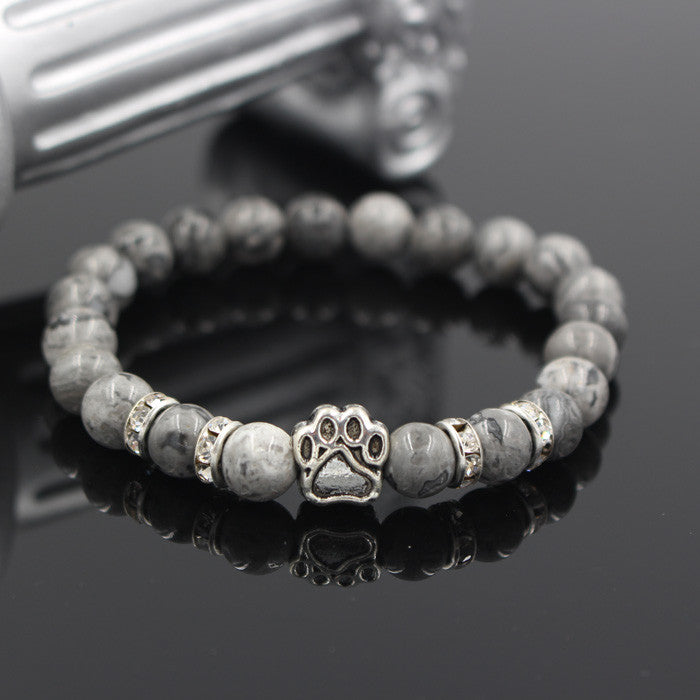 Paw Natural Stone Bracelet - The Creative Booth