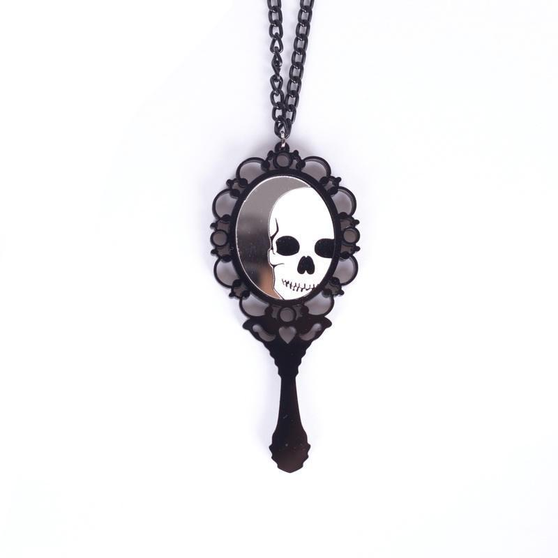 FREE! Skeleton Magic Mirror Necklace - The Creative Booth