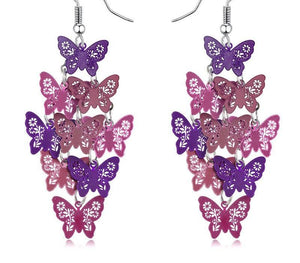 Multi-layer Bohemian Drop Butterfly Earrings