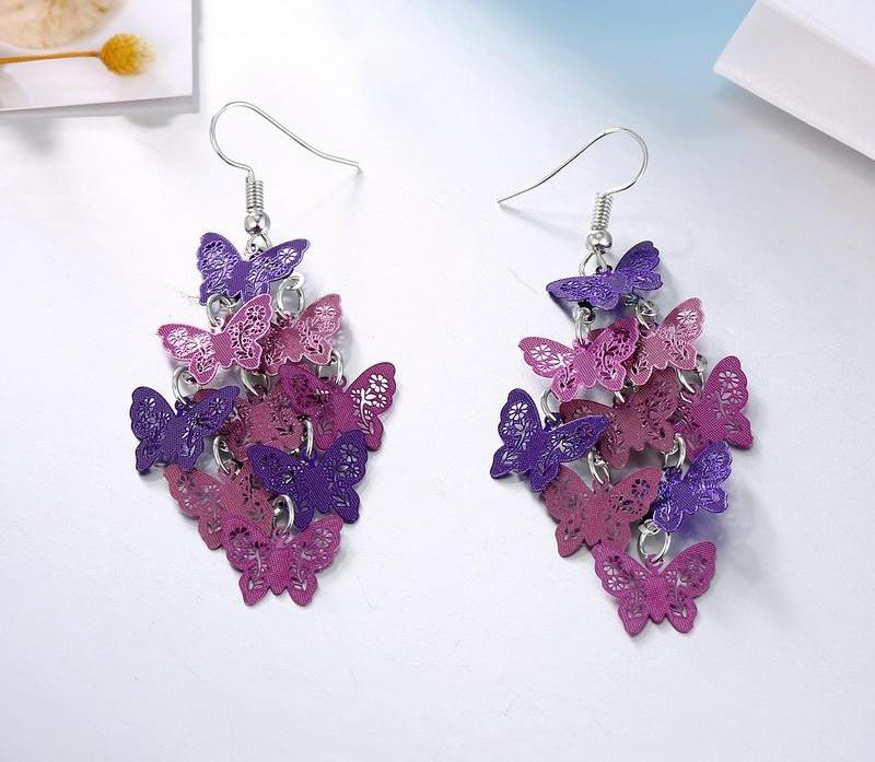 FREE! Multi-layer Bohemian Drop Butterfly Earrings - The Creative Booth