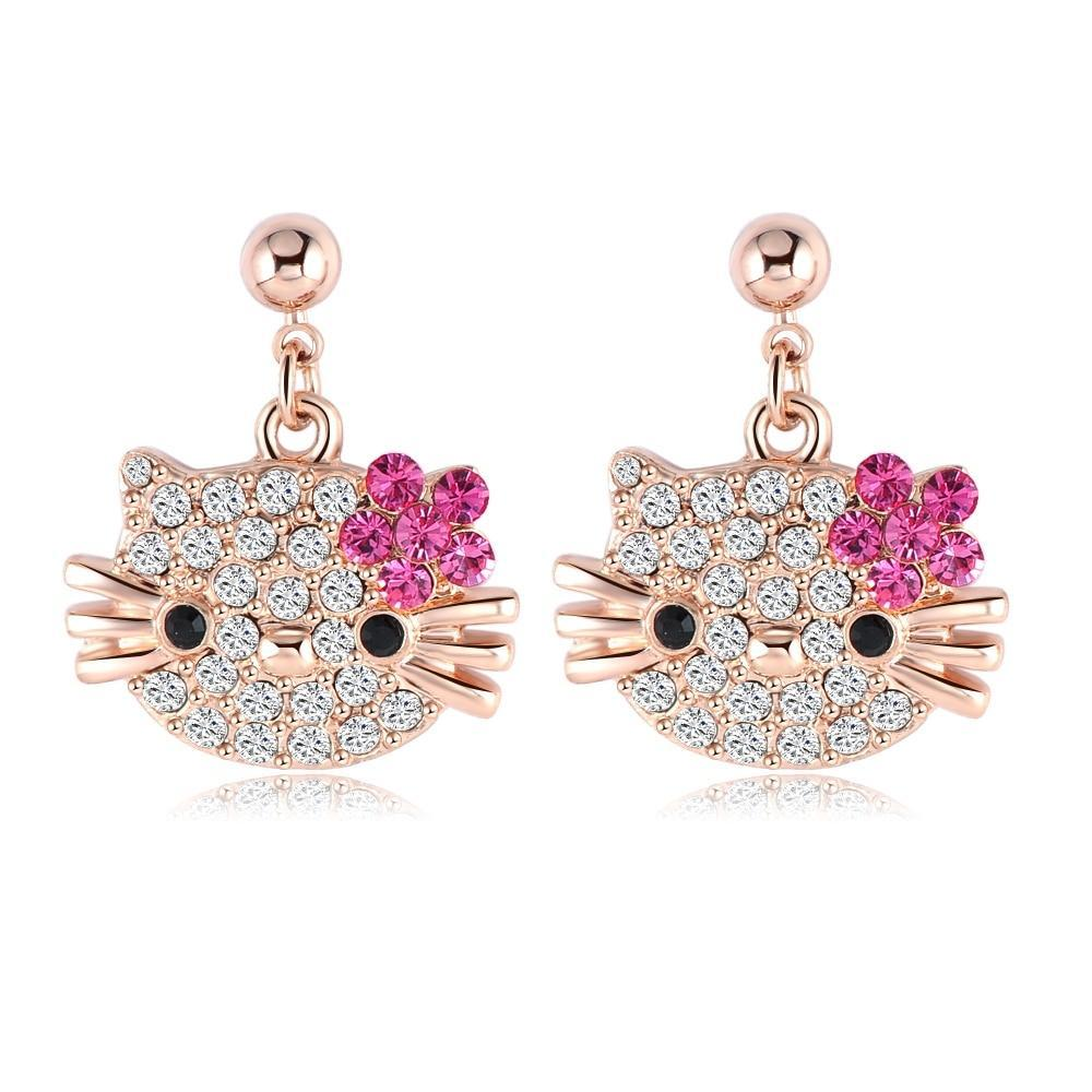Crystal Kitten Earrings - The Creative Booth