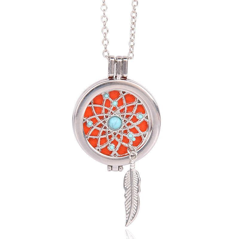 Dream Catcher Aromatherapy Pendant Necklace - The Creative Booth