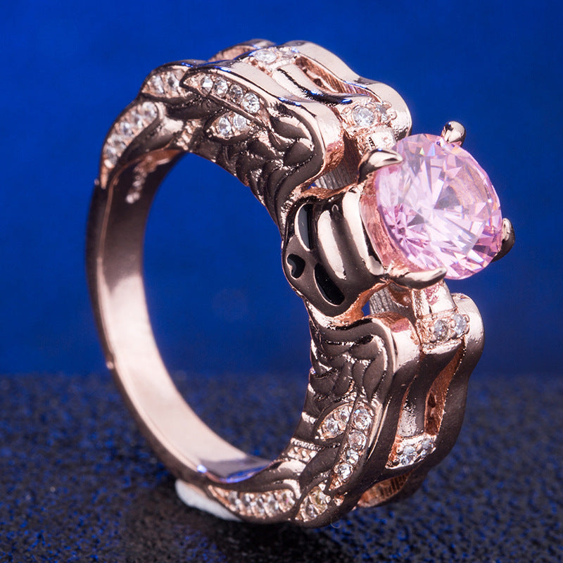 Luxury Skull Angel Wings Ring - The Creative Booth