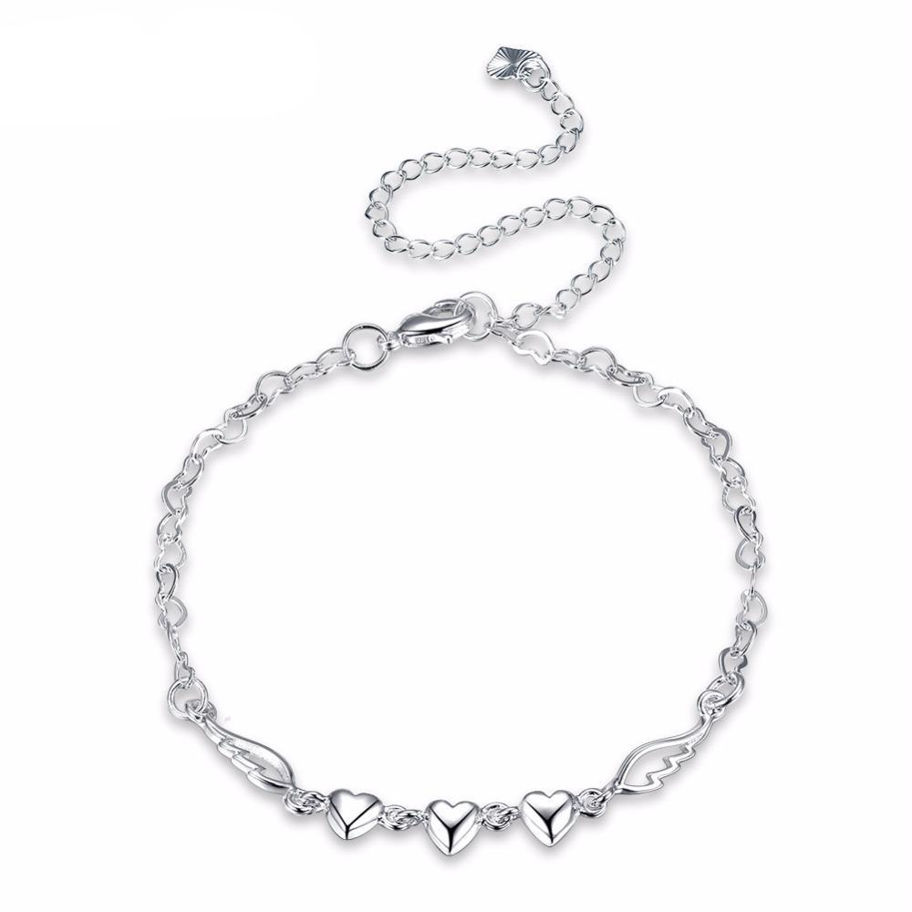 Angel Wing Heart Anklet - 35% Off! - The Creative Booth
