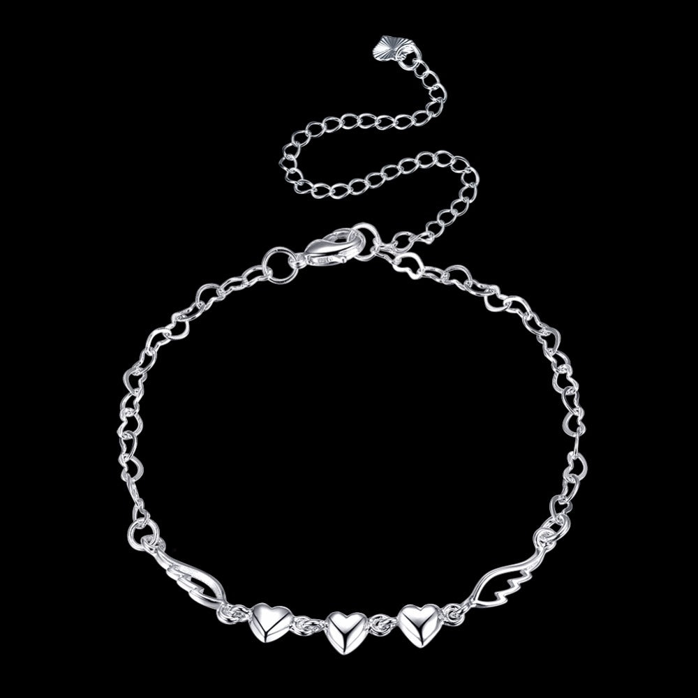 FREE! Angel Wing Heart Anklet - The Creative Booth