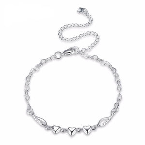 Angel Wing Heart Anklet - The Creative Booth