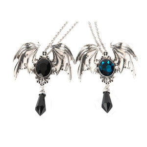 Black Crystal Devil Wings Gothic Necklace - 65% OFF! - The Creative Booth