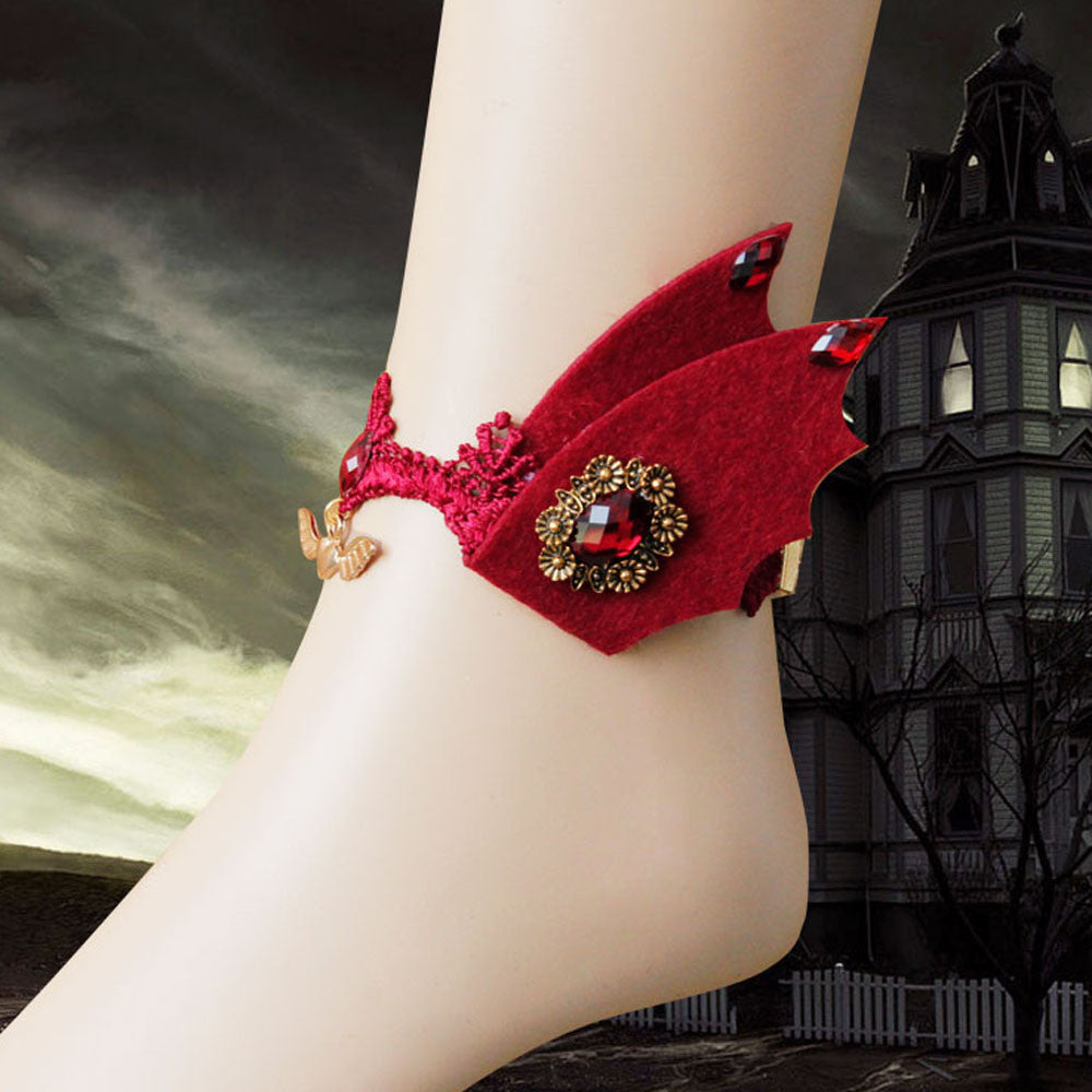 Red Devil Wings Anklet - The Creative Booth