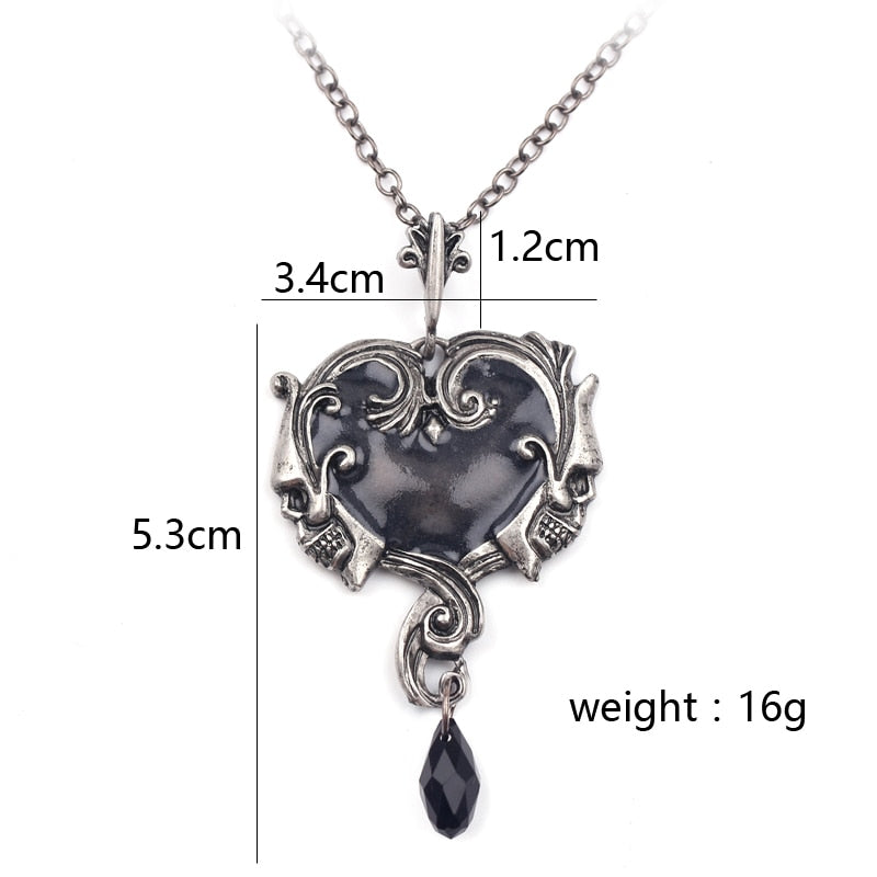 Black Drop Tear Crystal Necklace - 50% OFF + FREE SHIPPING - The Creative Booth
