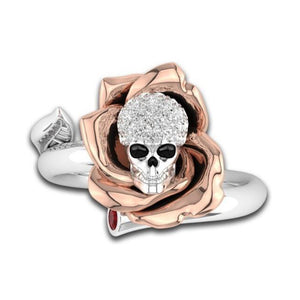 FREE! Charming Rose Gold Skull Ring - The Creative Booth