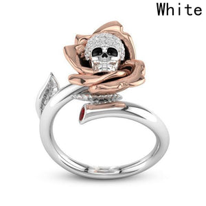 Charming Rose Gold Skull Ring - 65% Off - The Creative Booth