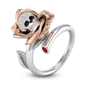 Charming Rose Gold Skull Ring - 65% OFF! - The Creative Booth
