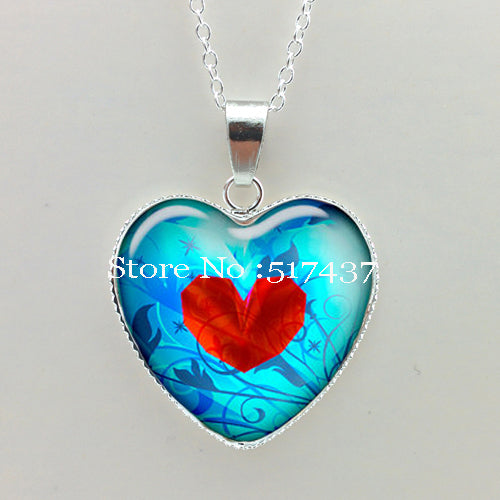Glass Dome Heart in a Heart Necklace - 35% OFF + FREE SHIPPING