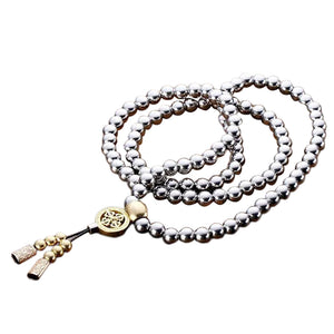 Self-Defense 108 Buddha Beads Necklace- 20% Off + FREE Shipping - The Creative Booth
