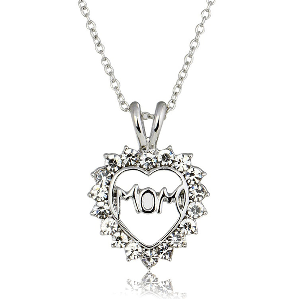Love Mom Devil Heart Necklace - The Creative Booth