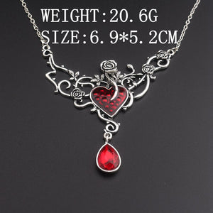 Rosy Devil Red Heart Necklace - The Creative Booth