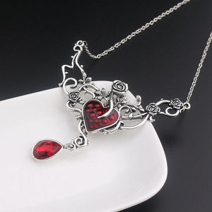 Rosy Devil Red Heart Necklace - 30% Off! - The Creative Booth