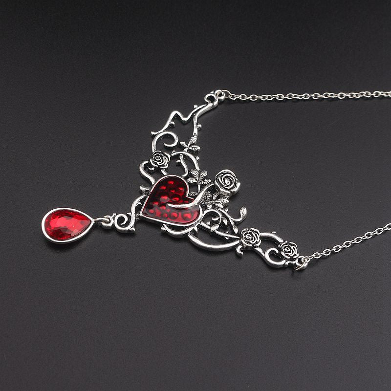 Rosy Devil Red Heart Necklace - 65% Off! - The Creative Booth