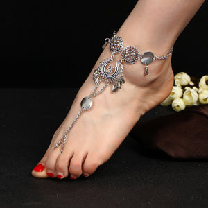 Ethnic-style Silver Tassel Anklet - The Creative Booth