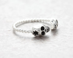 Adjustable Tiny Evil Skull Ring - 65% Off - The Creative Booth